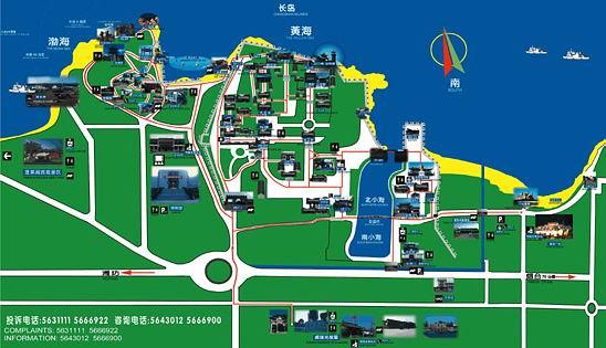 山东半岛全景图